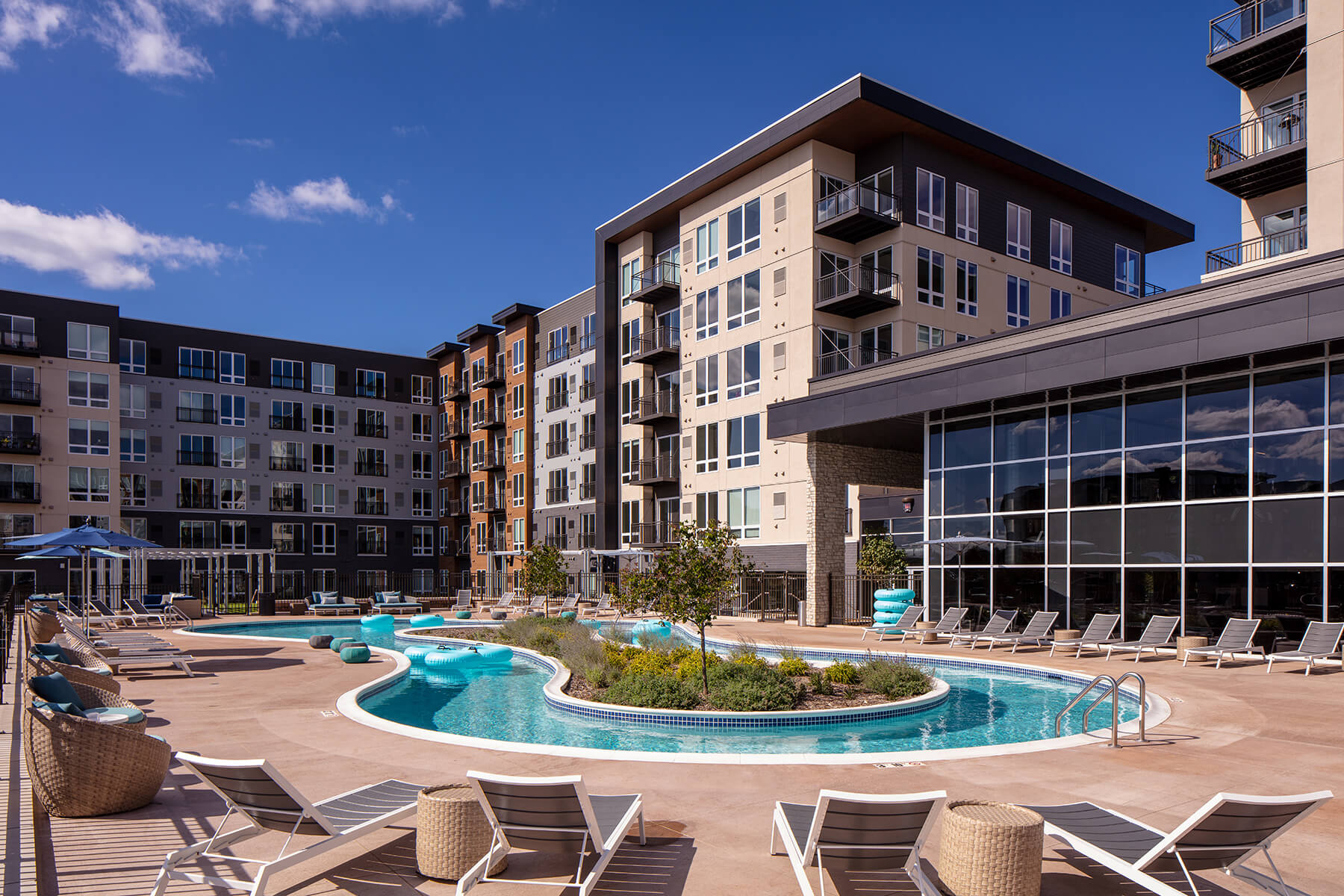 Minneapolis Luxury Apartments for Rent Photo of  FLOAT: MSP's only Lazy River pool - Lifestyles of the chill & active